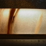 Ice core from Akademii Nauk Ice Cap (Severnaya Zemlya, Siberian Arctic) – bottom part. Photo from the Alfred Wegener Institute (awi.de).